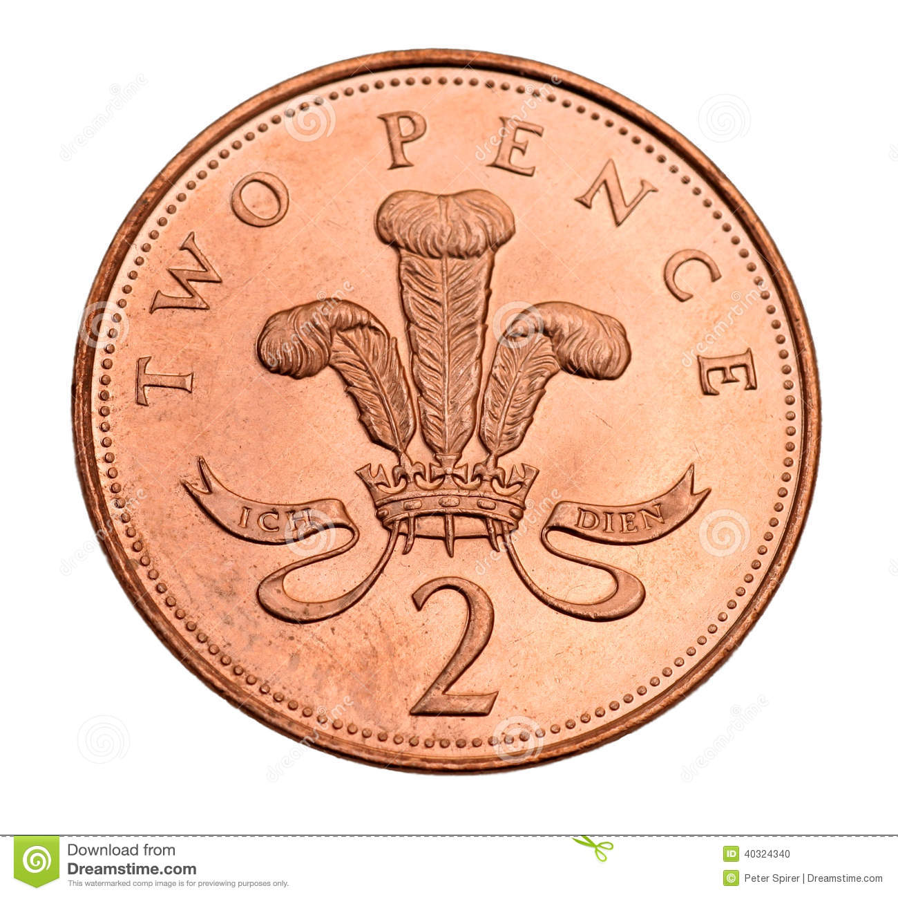 ... pence coin, showing the motto of the Prince of Wales. Motto Clipart