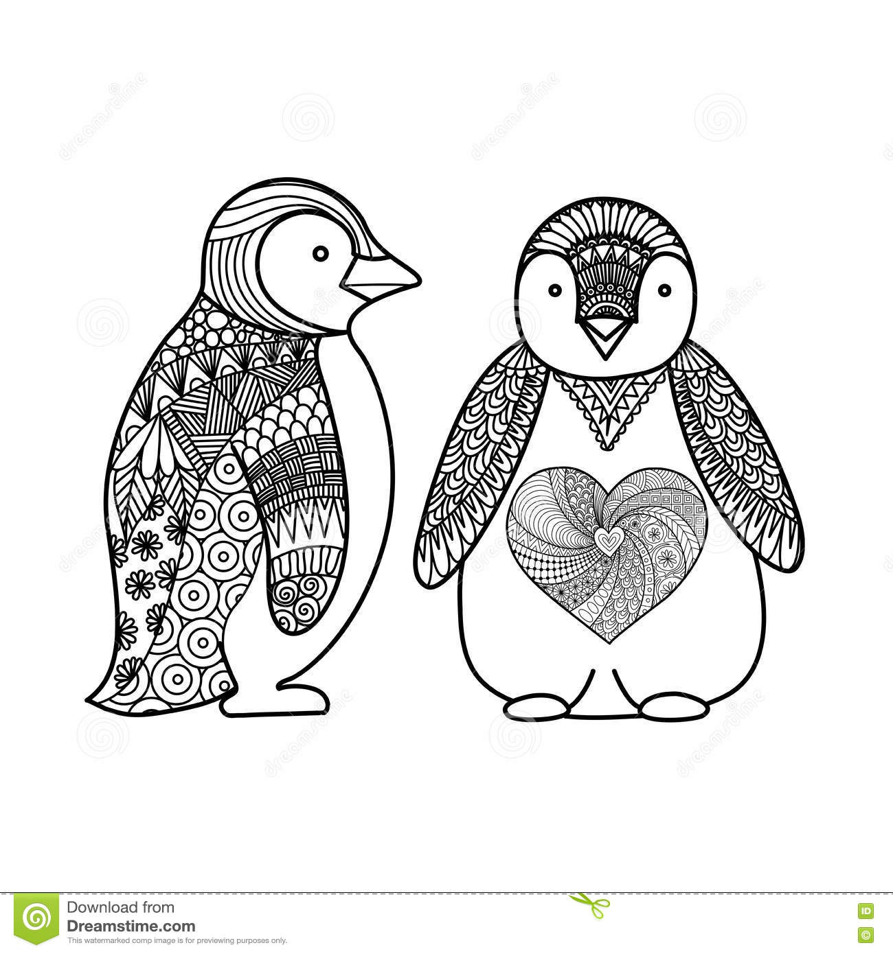 Igloo Coloring Page Penguins Cartoons, Ill...