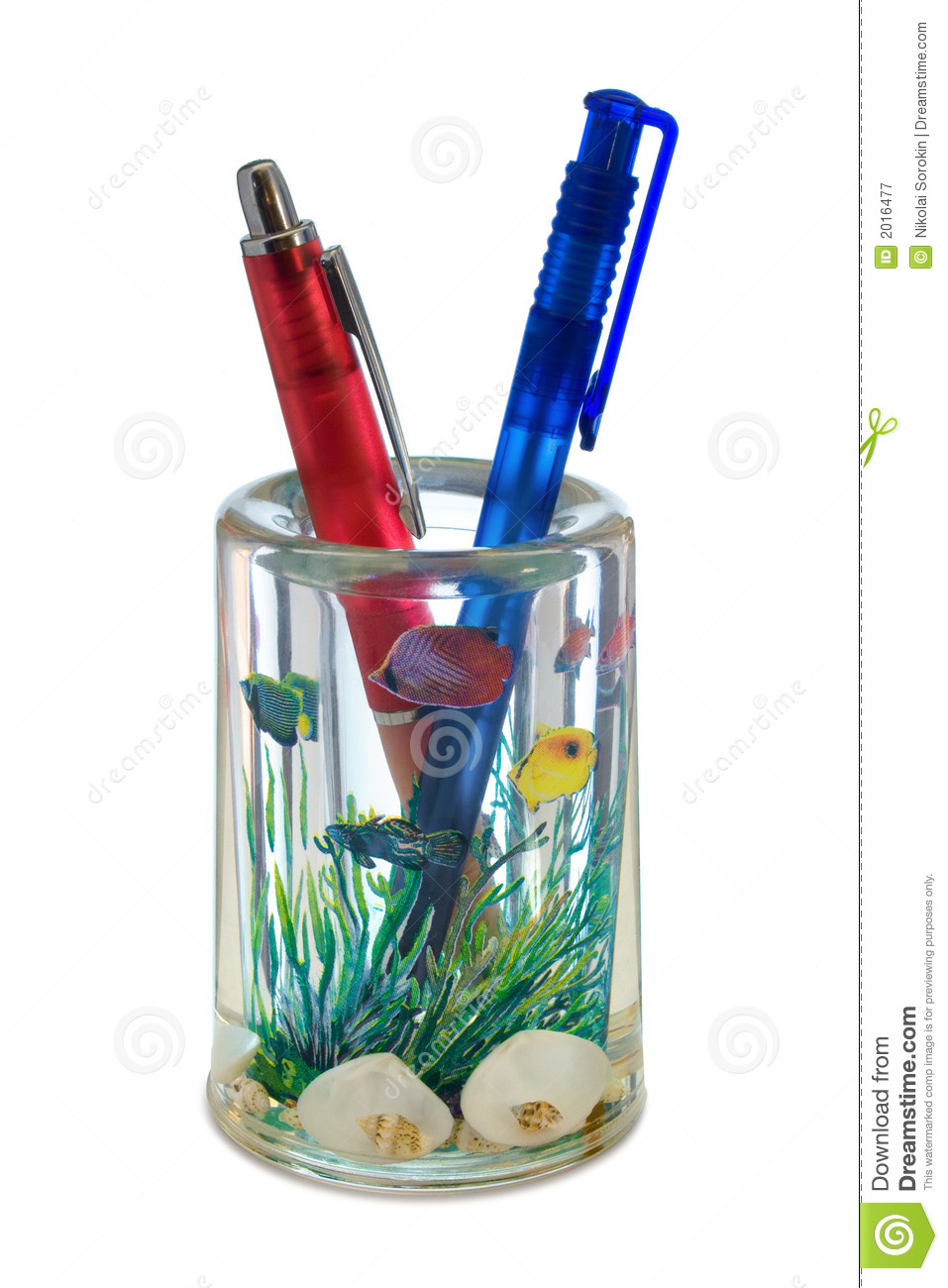 Two pens in container (like a aquarium)