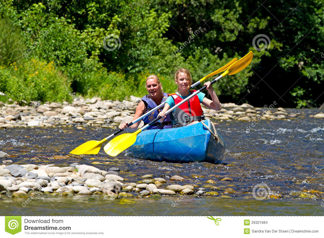 Two people in canoe stock photo. Image of smile, woman ...
