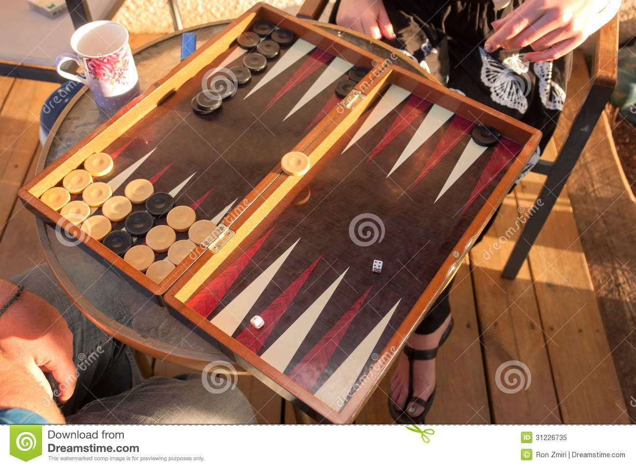 Two People Play Backgammon Royalty Free Stock Photo ...