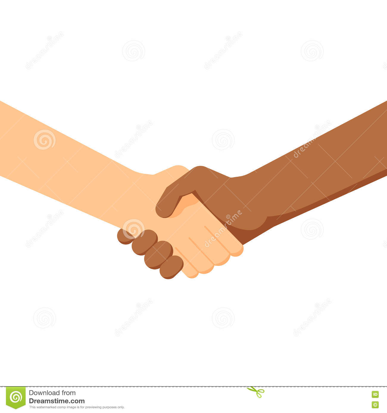 Two People Shaking Hands White And Black Conclusion Of The – Contract Between Two People