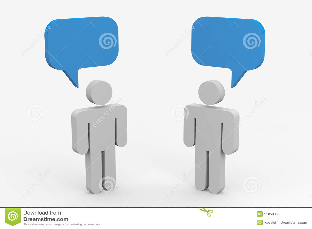 Two People Talking Stock Photos Image 21050053