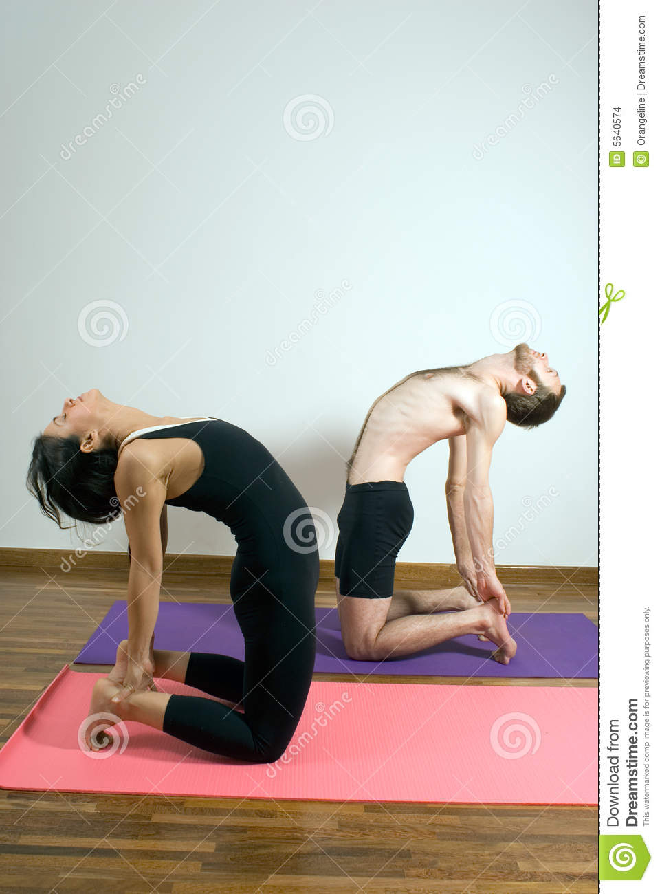 Two People In A Yoga Pose