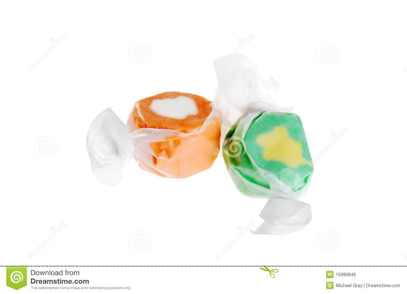 Two Pieces Of Salt Water Taffy Royalty Free Stock Image - Image ...