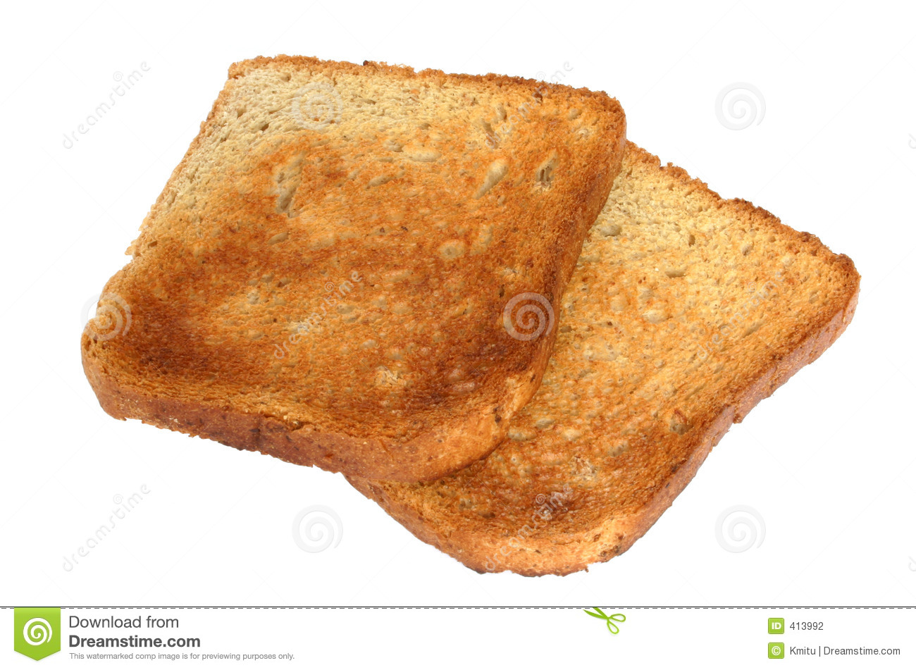 Two pieces of toast #2 stock photo. Image of bakery, everyday - 413992