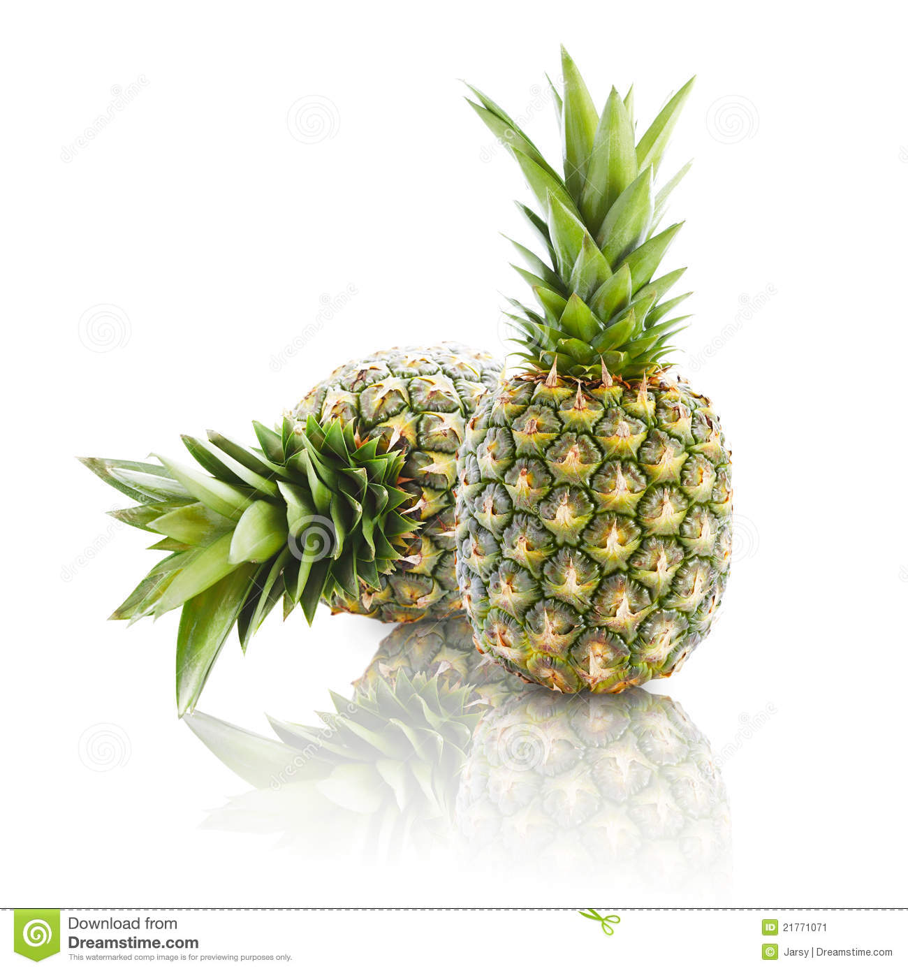 two pineapples stock image image of fruit healthy acid