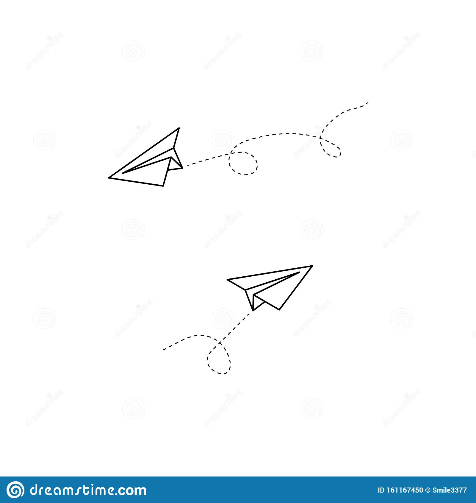 Two Plane Vector Icons Plane Icons Airplane Vector Icon Sketch