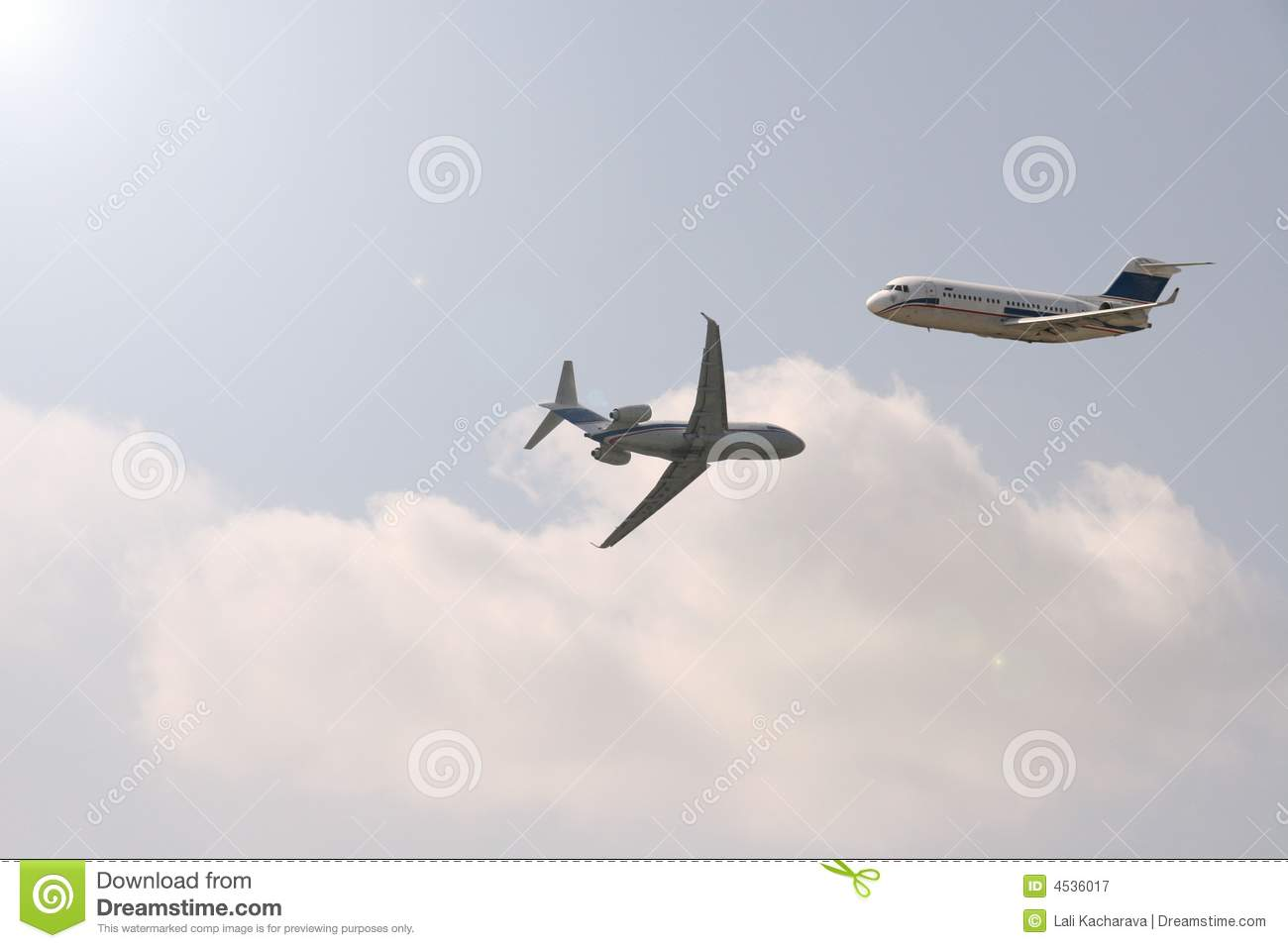 Download Two planes stock image. Image of collision, silhouettes - 4536017