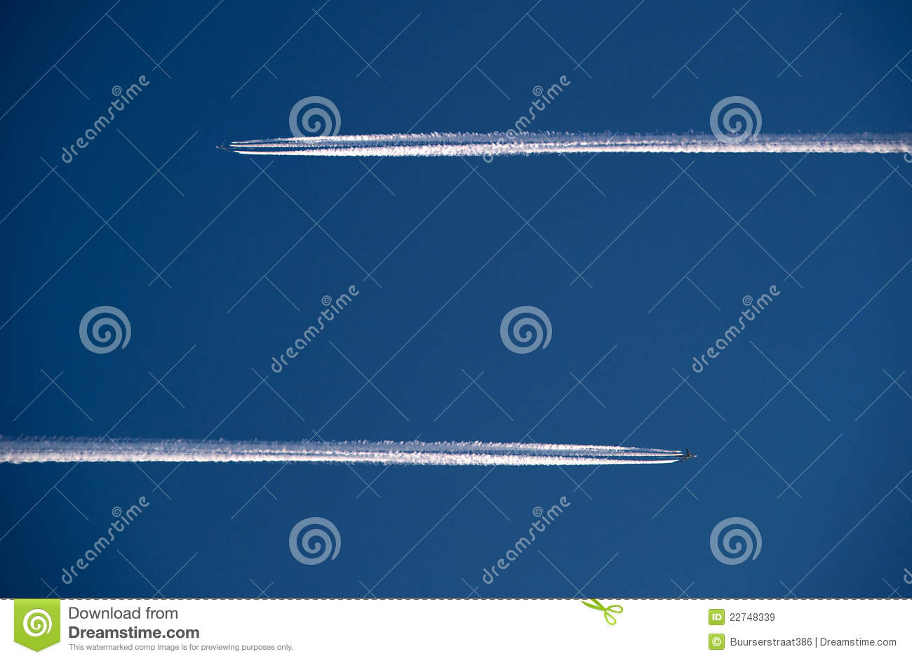 Two planes in the air
