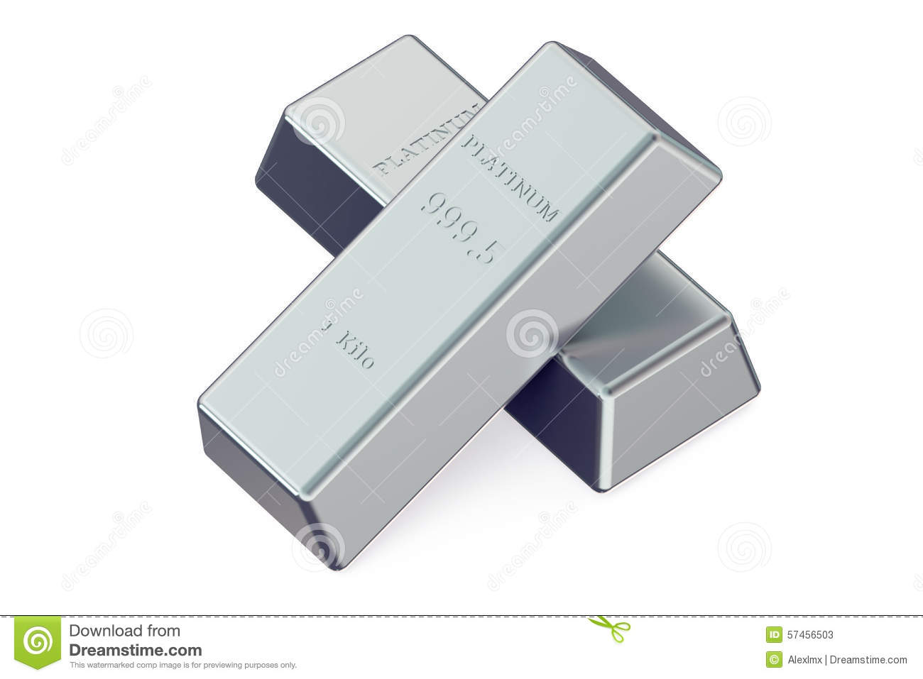 Two Platinum Bars Stock Illustration Image 57456503