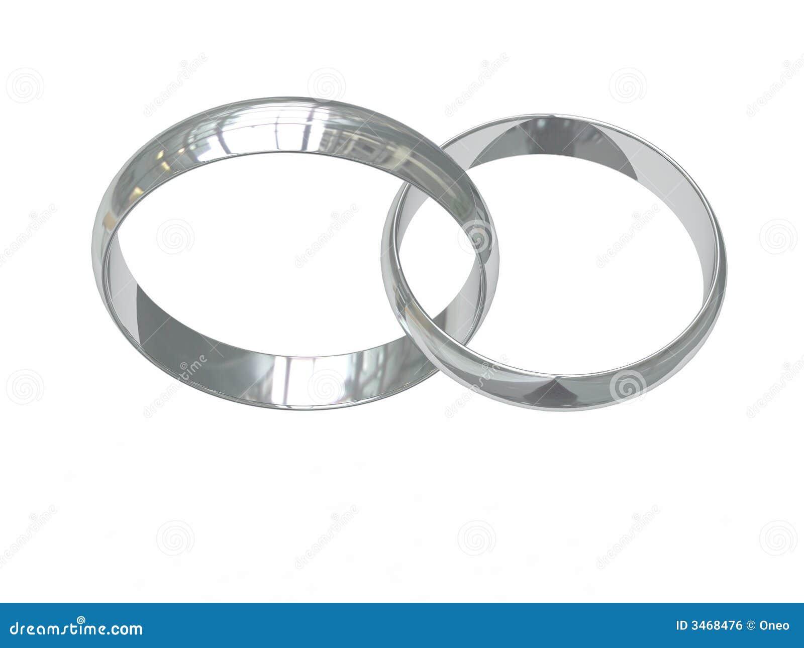 Two platinum wedding rings stock illustration Image of bride
