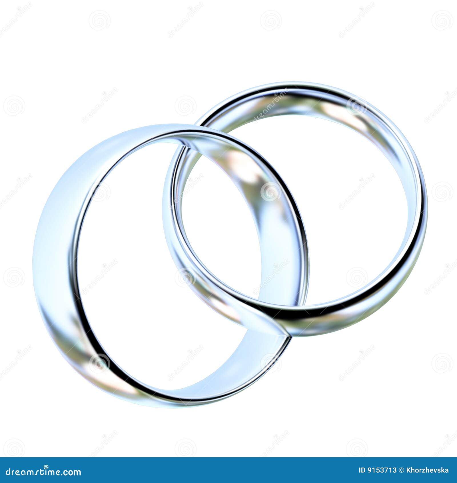 Two Platinum Wedding Rings Stock Illustration Illustration