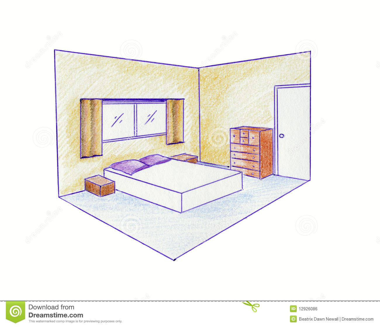 Two Point Perspective Stock Illustration Image Of Colour