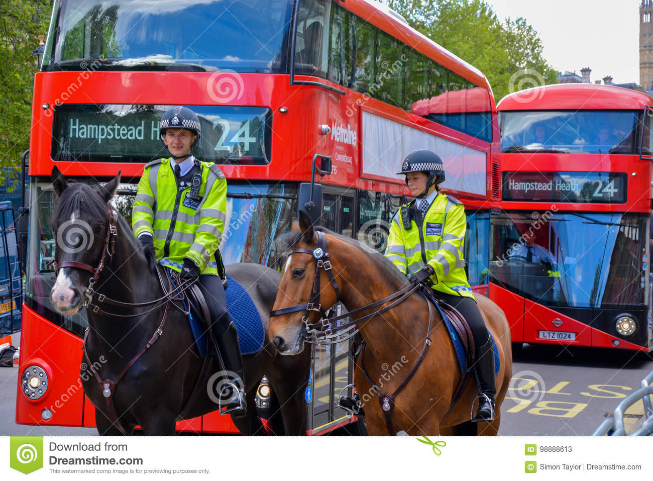 Two police officers on horses