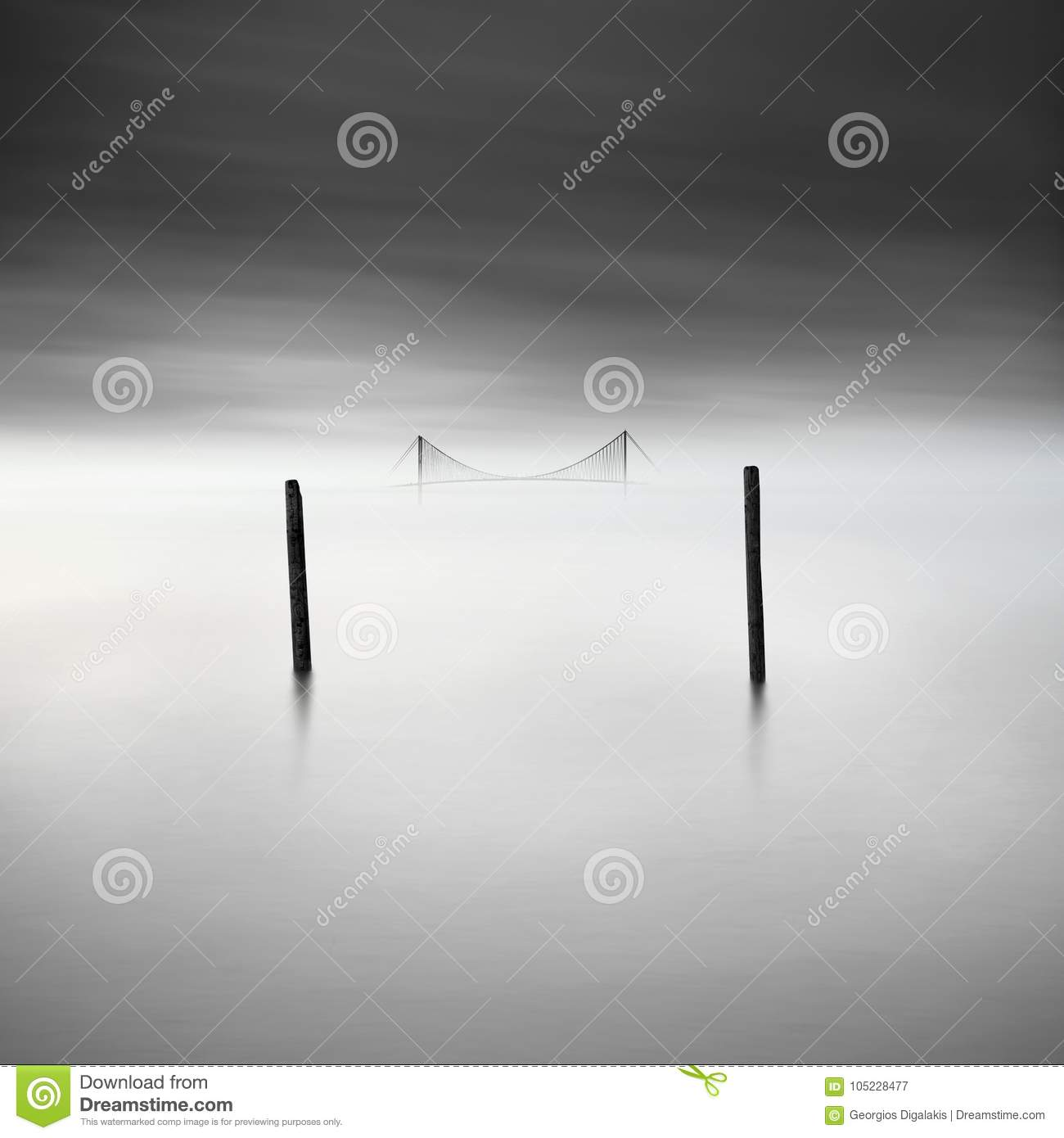 Two posts and a bridge