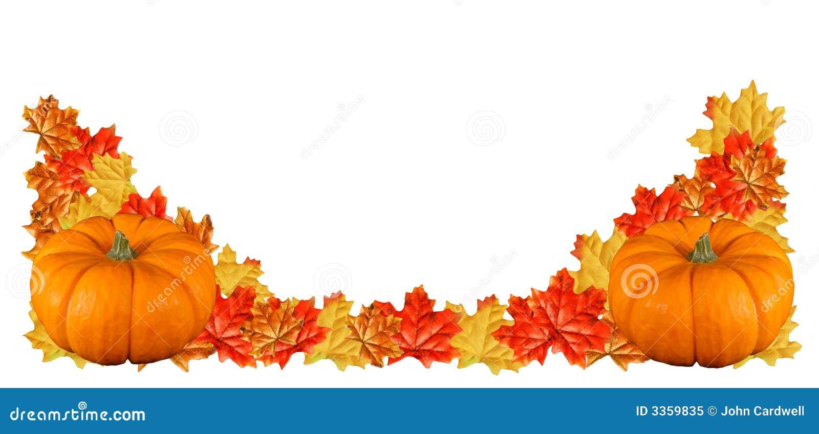 Two Pumpkin Border Royalty Free Stock Photo Image 3359835