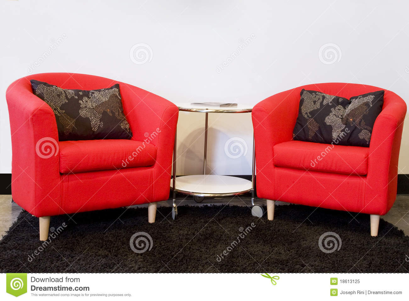 Two Red Chairs Royalty Free Stock Photo Image 18613125