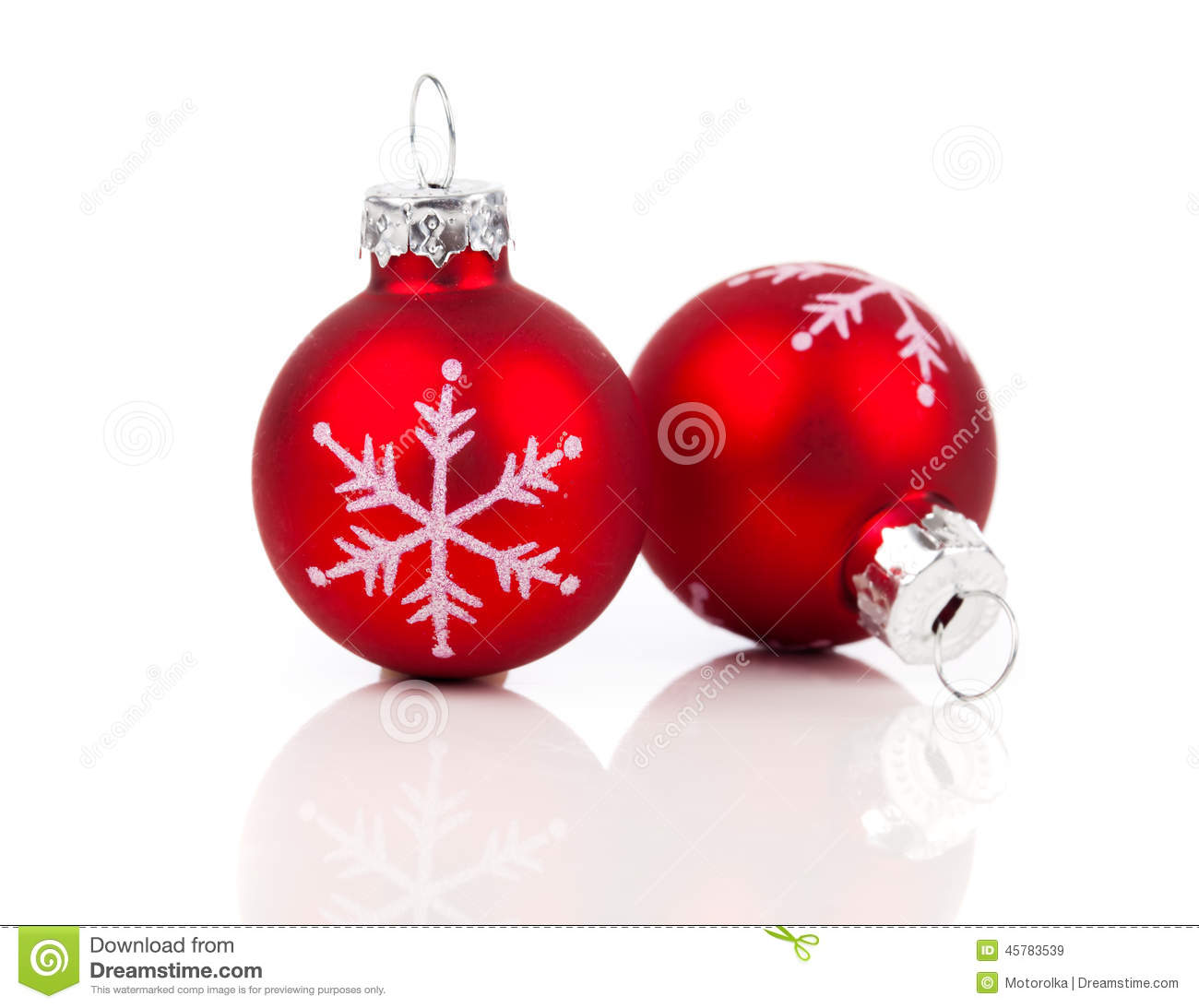 two red christmas decoration balls stock image image 45783539. Black Bedroom Furniture Sets. Home Design Ideas