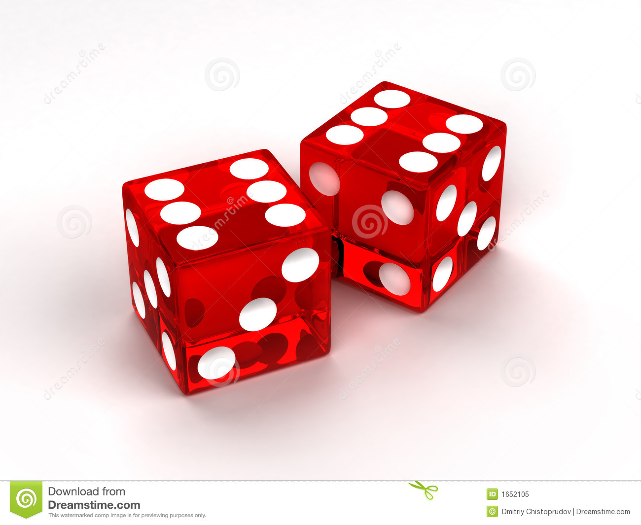 Two Red Glass Dices Royalty Free Stock Photo Image 1652105
