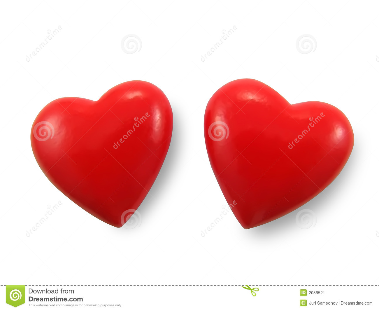 Two red hearts.