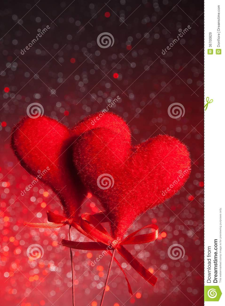 Two red velvet hearts concept of valentine day royalty free stock images i - Velvet concept immobilier ...