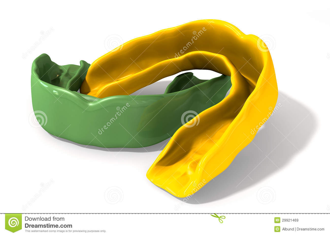 Gum Guard Green And Gold Perspective Royalty Free Stock