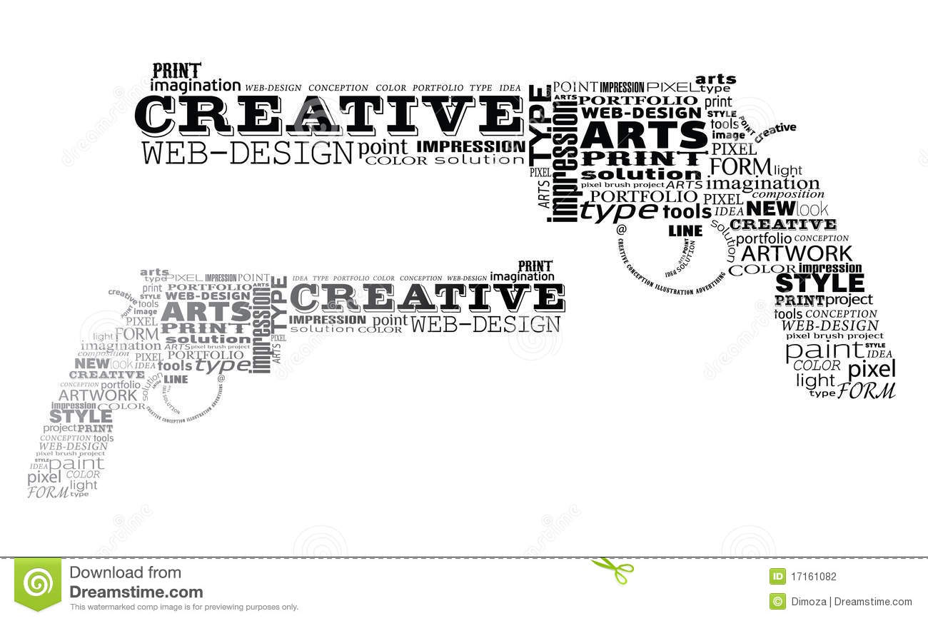 Color art tipografia - Two Revolvers Made By Typography