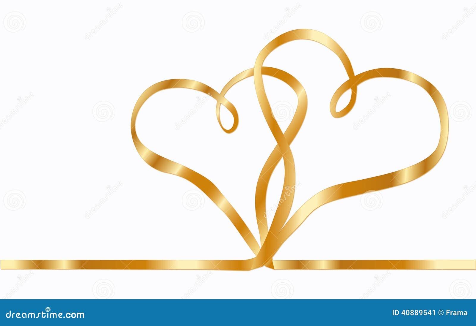 Two Ribbon Hearts Stock Illustration Image 40889541