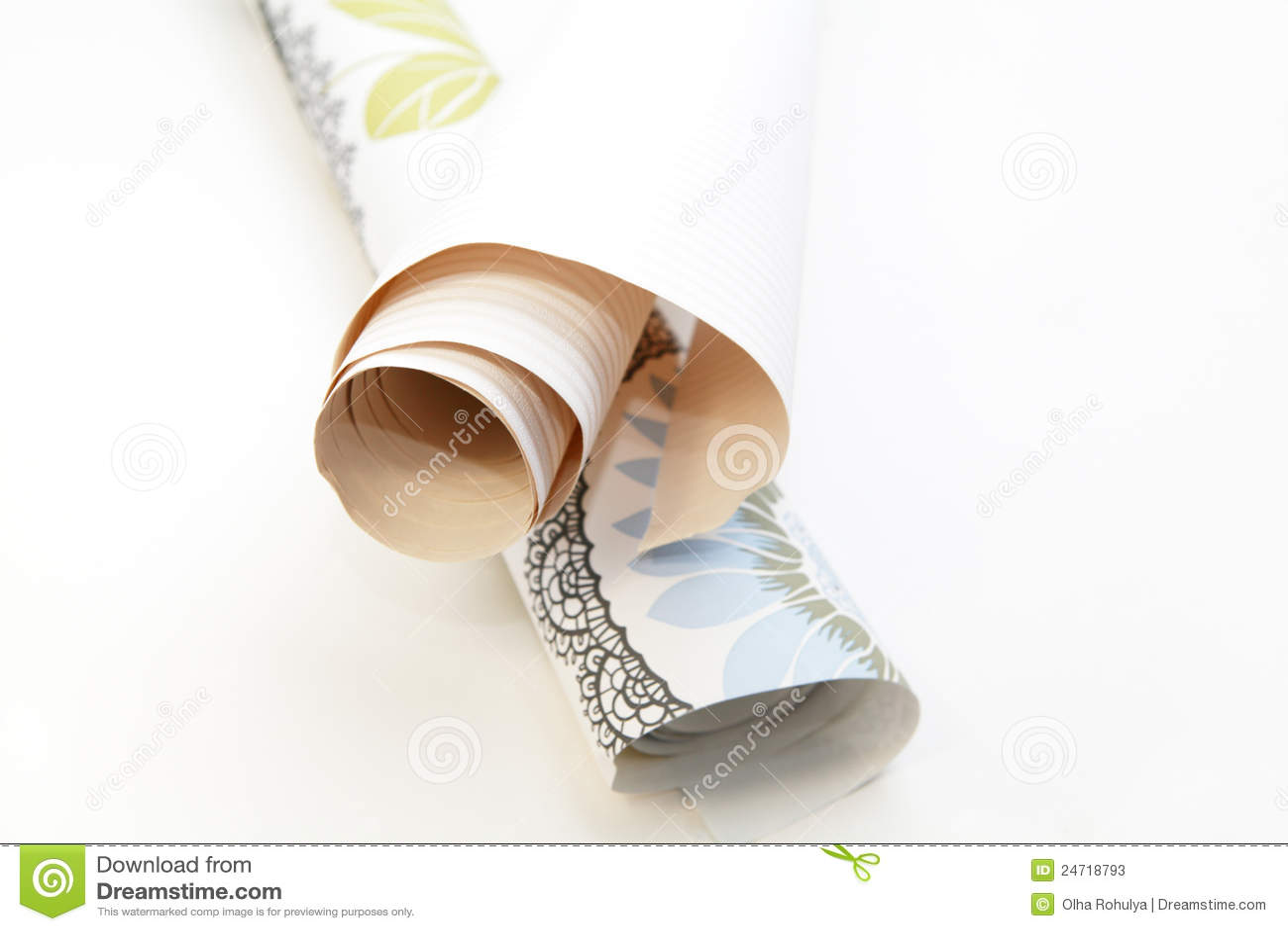 Two rolls of wallpaper
