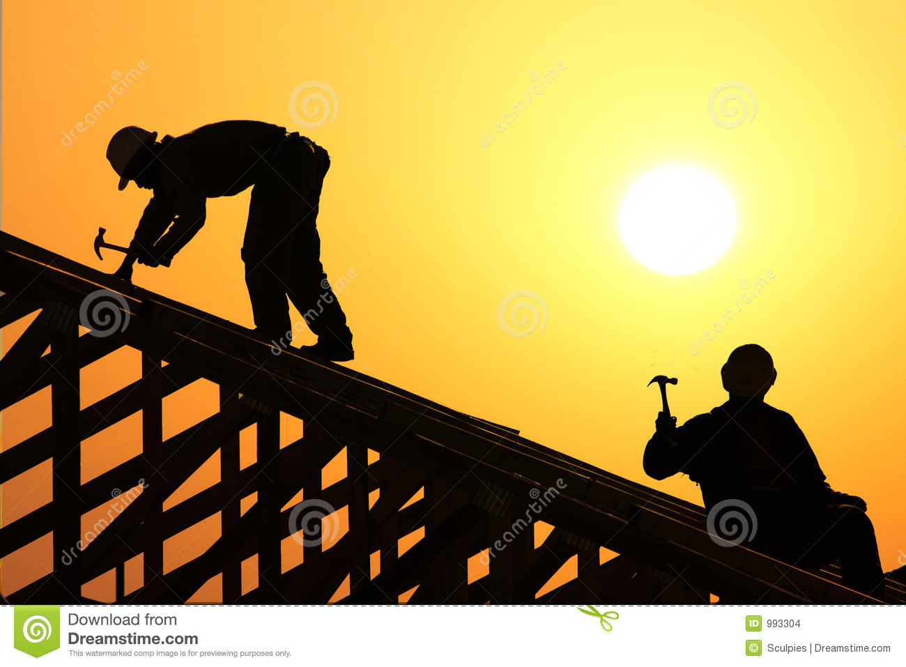 Two Roofer Stock Images Image 993304