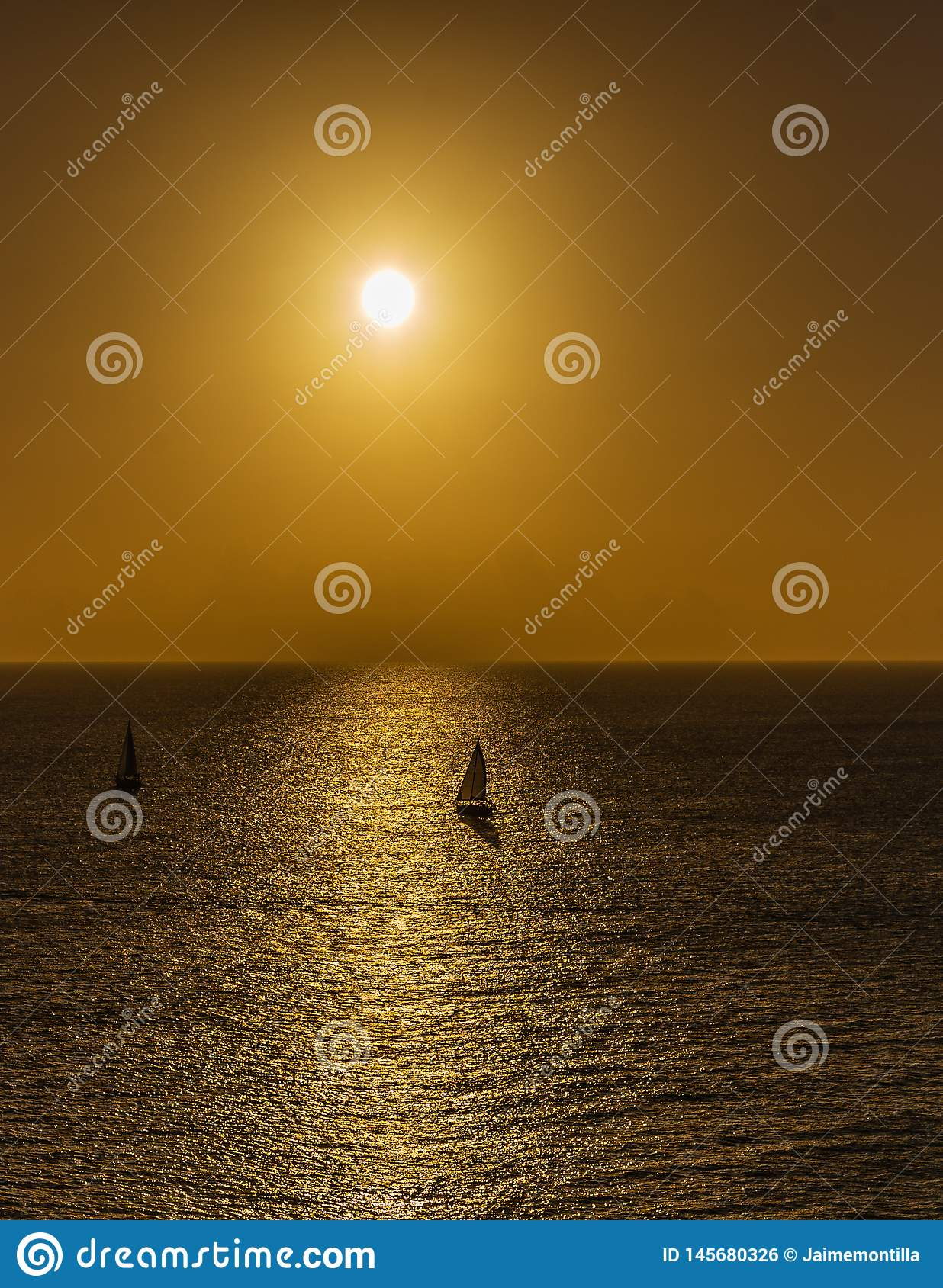 Sailboats at sunset in Key West