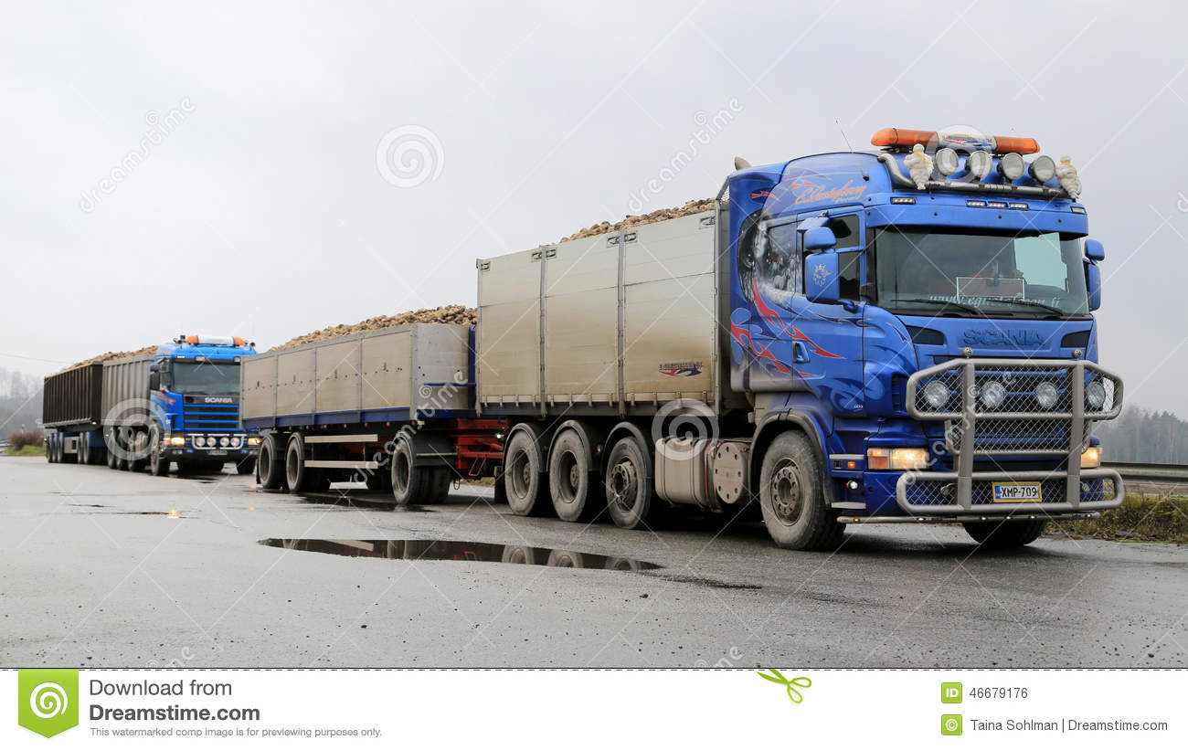 two scania trucks haul sugar beet editorial photo image tractor trailer truck clipart tractor trailer clipart black and white