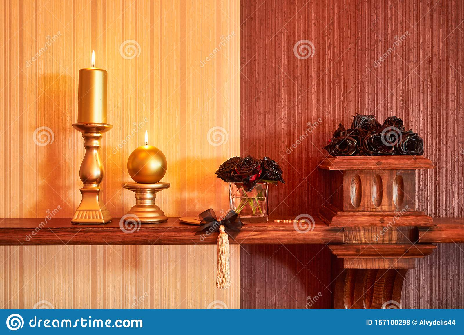 Two Scented Candles Light Up Stock Photo Image Of Color Ceremony 157100298