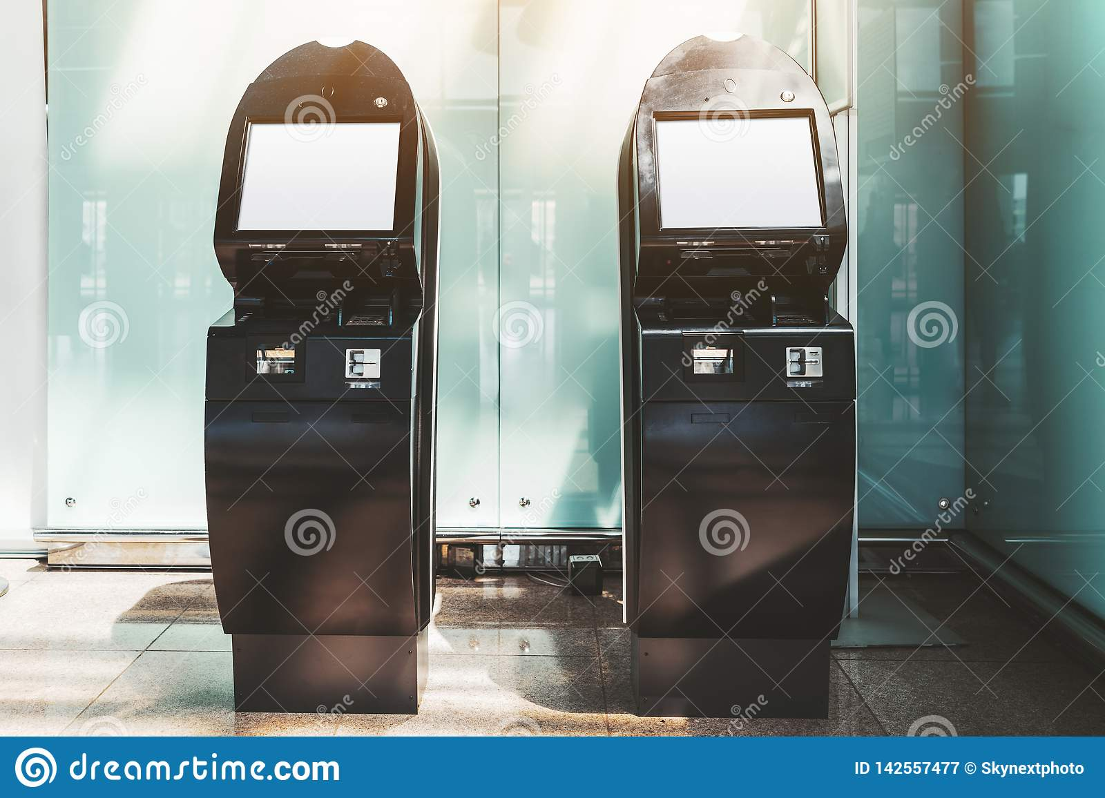 Two self-service terminals mockups