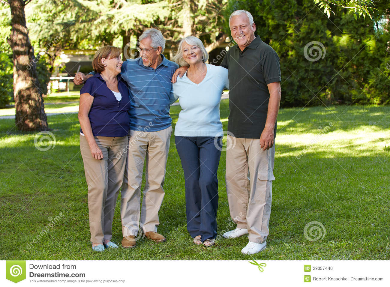 Two Senior Couples In Retirement Stock Photo Image 29057440