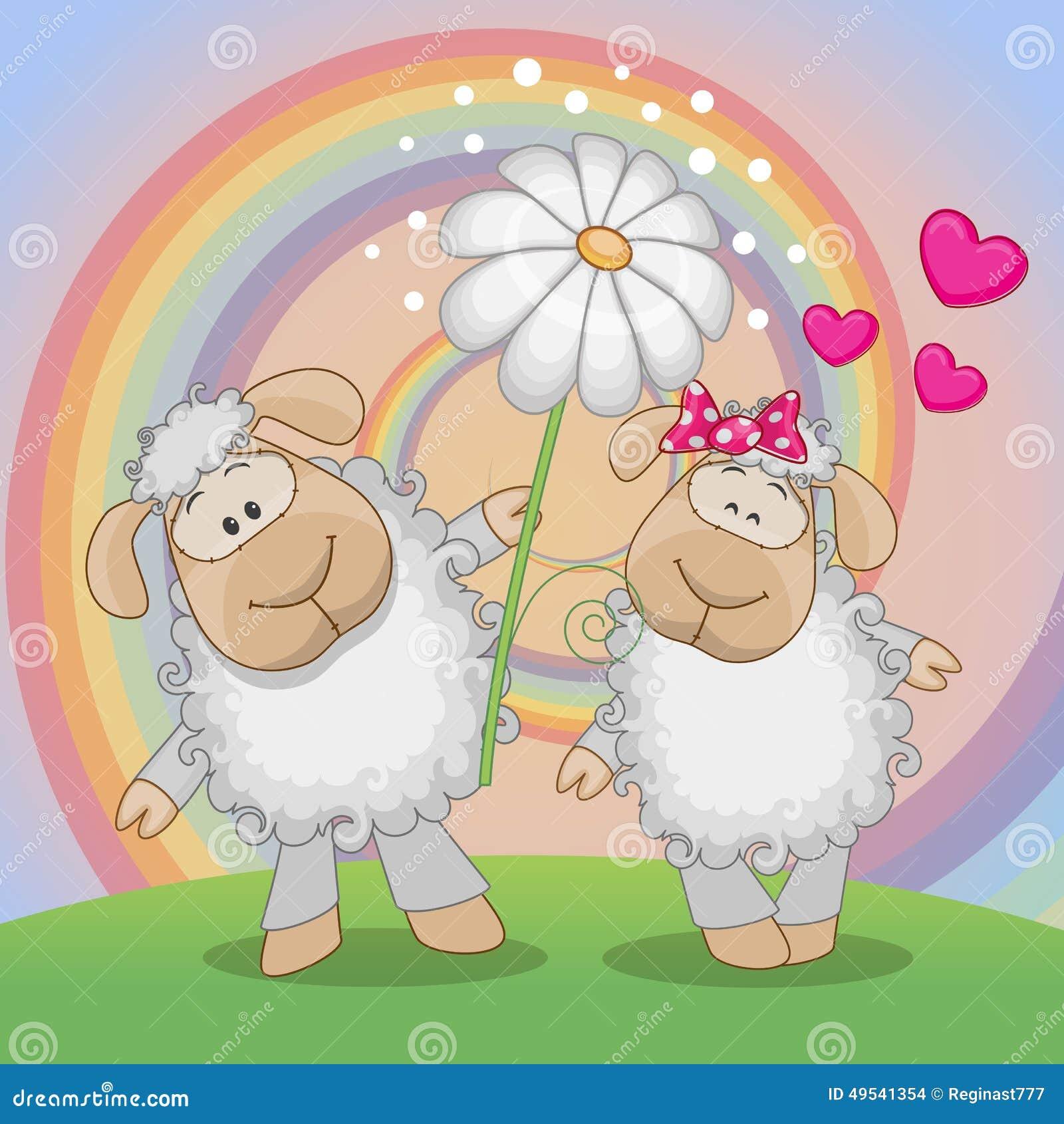 Two Sheep Royalty-Free Stock Image | CartoonDealer.com #156382
