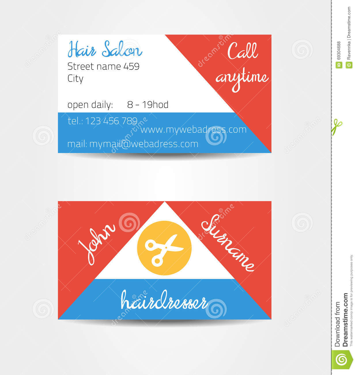 2 sided business cards templates free - two sided eccentric and extraordinary business cards