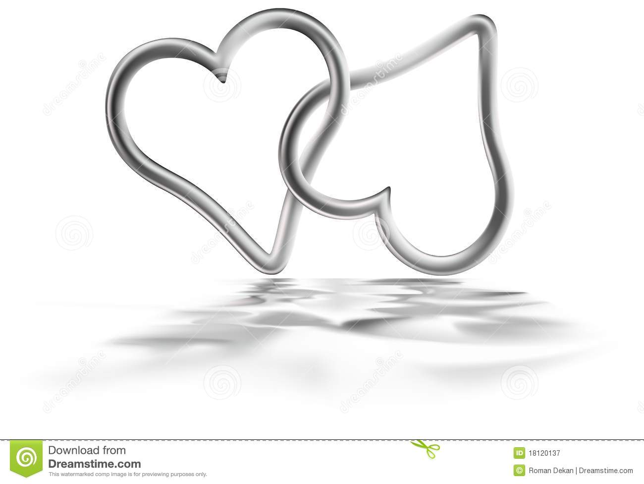 Two Silver Hearts Royalty Free Stock Photography - Image ...