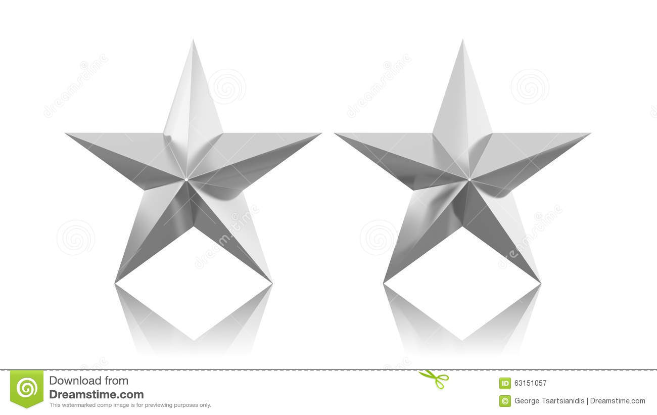 Two Silver Stars Stock Illustration - Image: 63151057