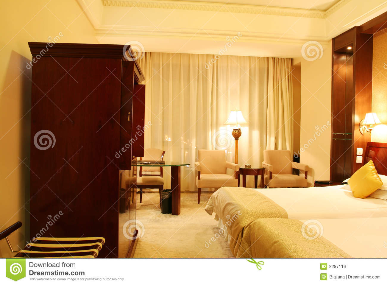 Two single bed in a bedroom royalty free stock image image 8287116 - Image bed room ...