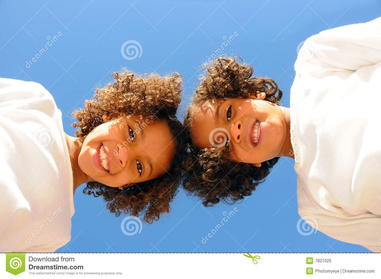 Download Two sisters stock image. Image of female, cheerful, black - 7821025