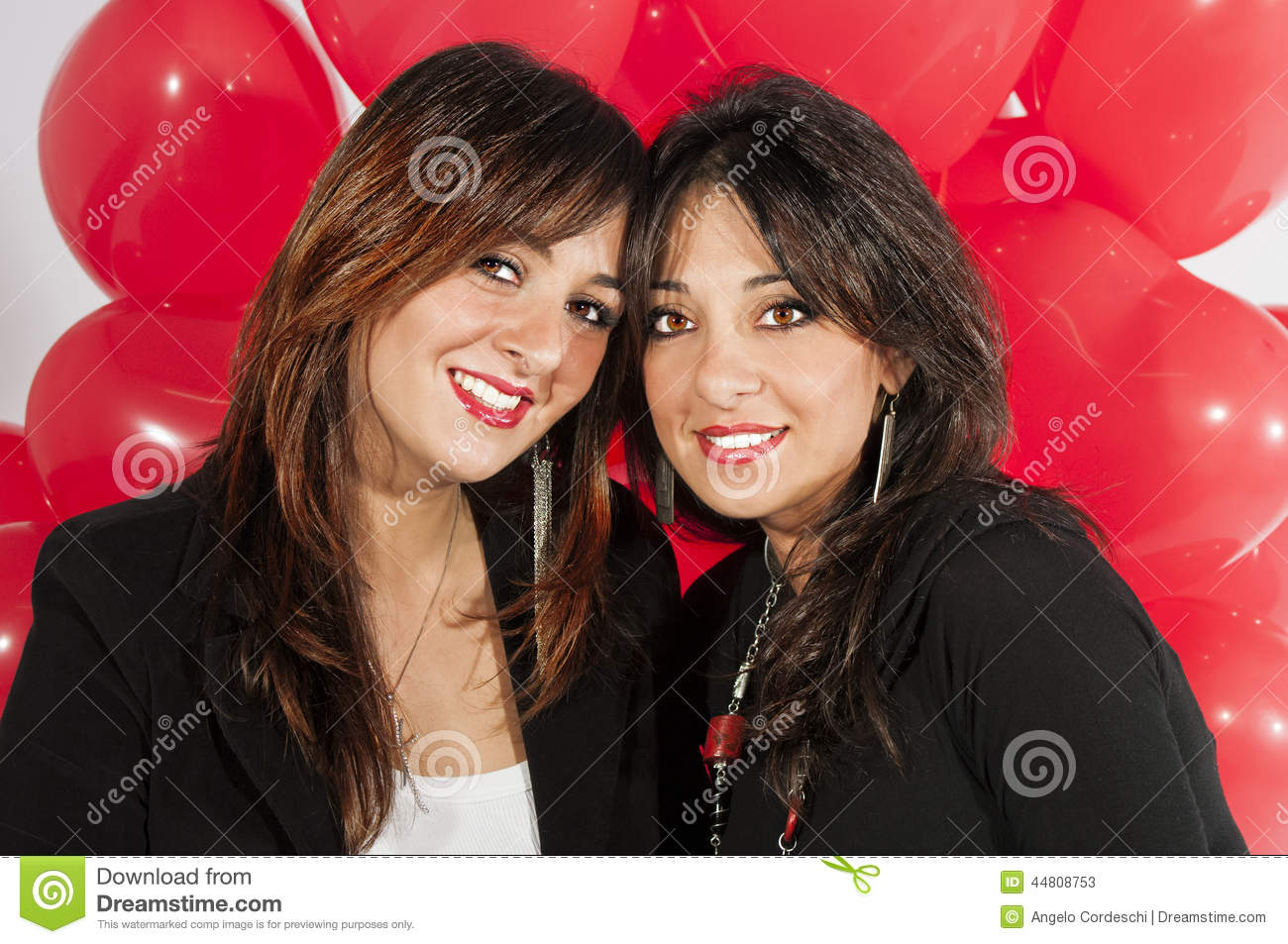 Two Sisters Model Love Each Other Stock Image Image Of Beautiful