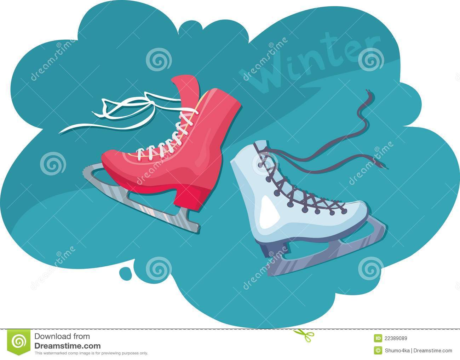 Roller skates for figure skating - Two Skates For Figure Skating Male And Female