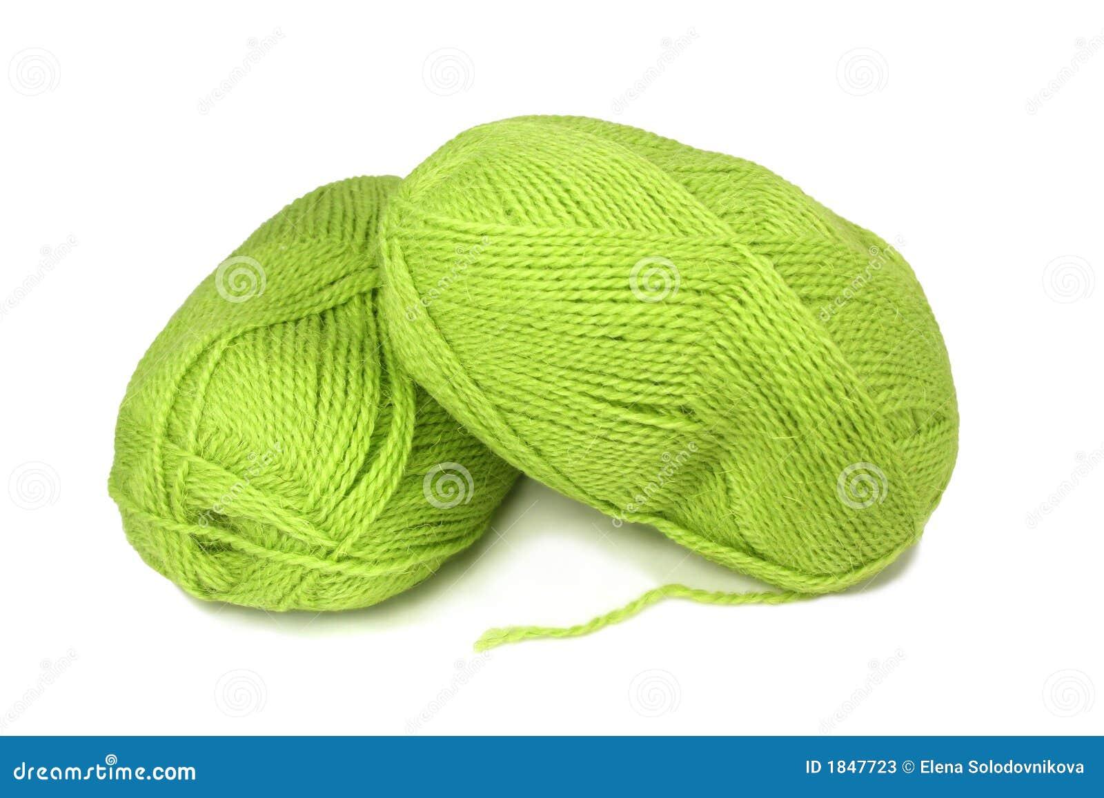 Зеленые нитки вязание