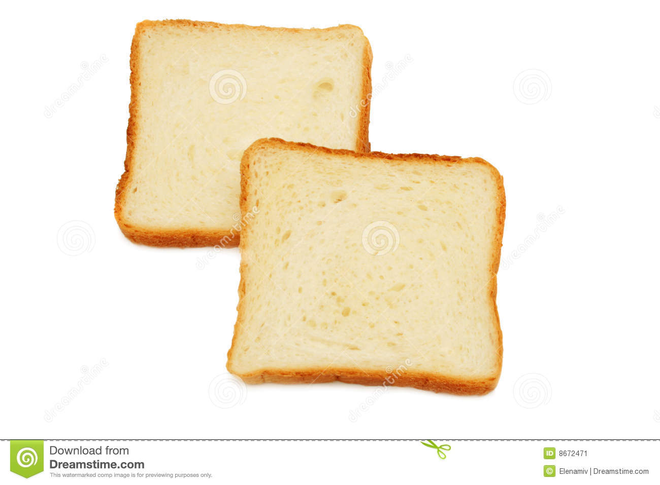 Two Slices Of Bread. Stock Image - Image: 8672471
