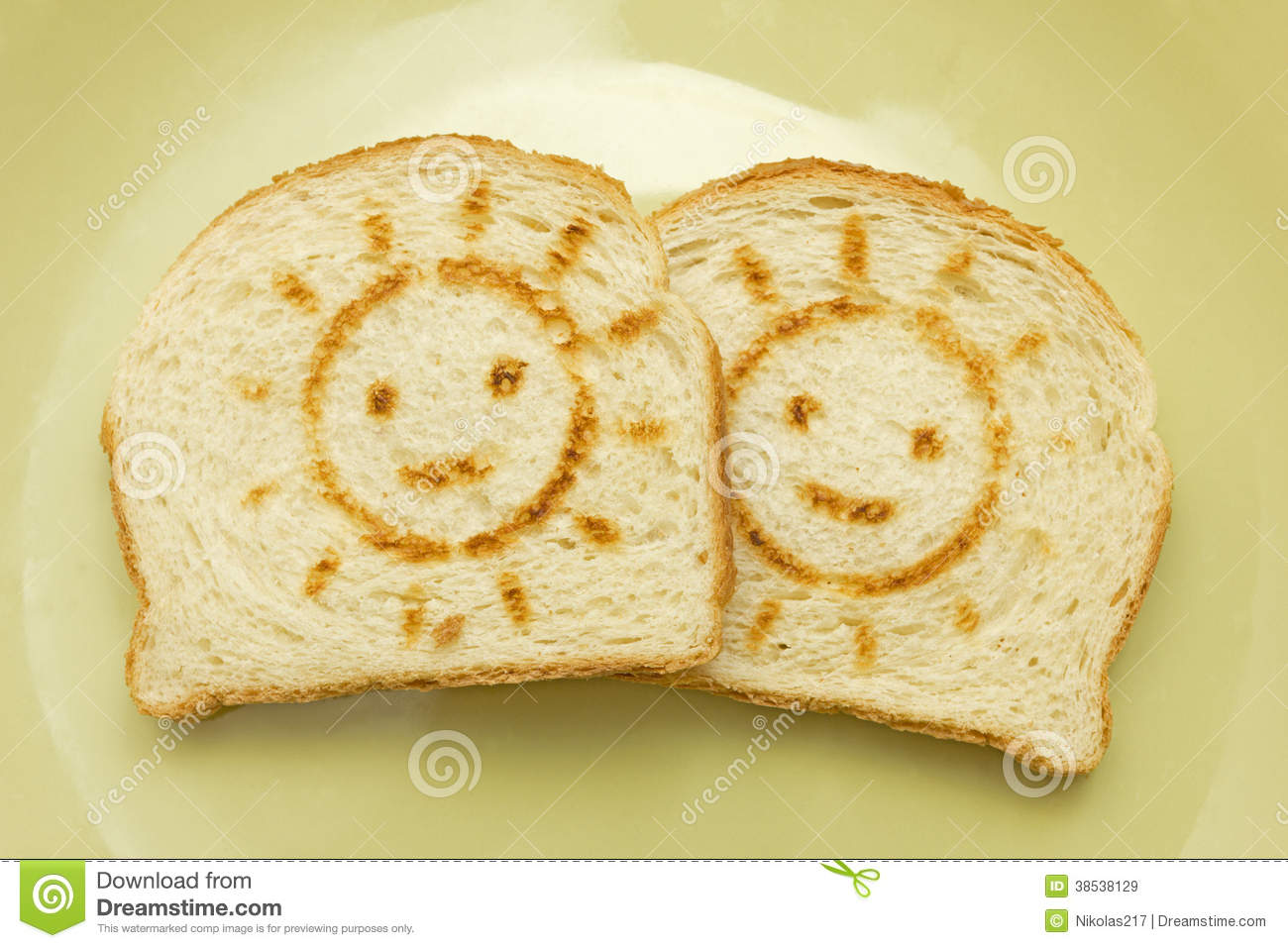 Two Slices Of Bread Royalty Free Stock Images - Image ...
