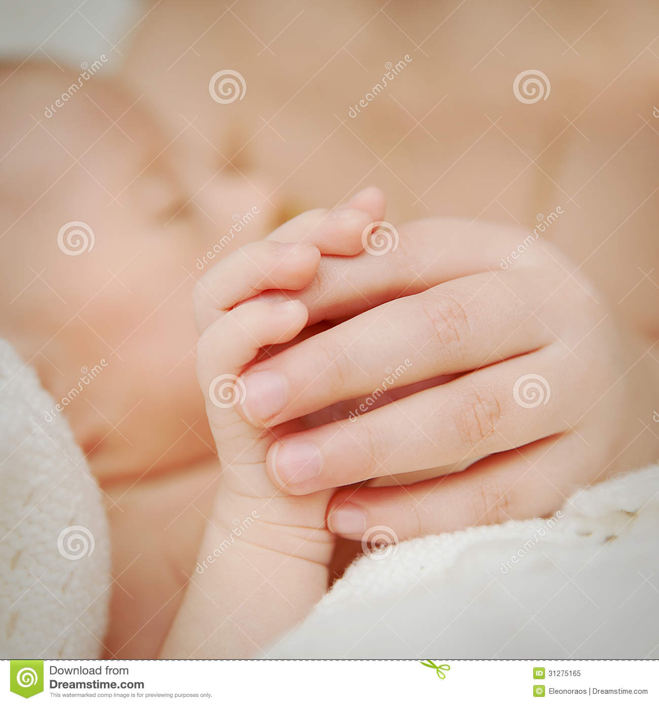 Two small childrens hands and fingers royalty free stock photo image