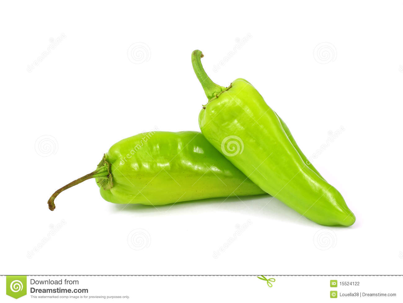 Two Small Green Hot Peppers Stock Photo - Image: 15524122