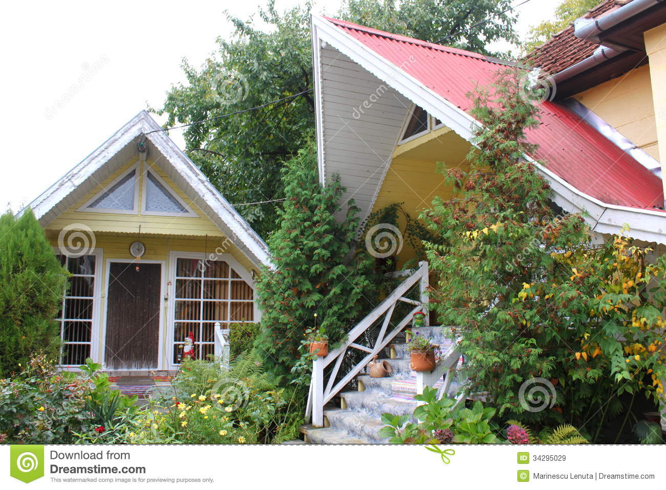 Two small houses royalty free stock images image 34295029 Small nice garden
